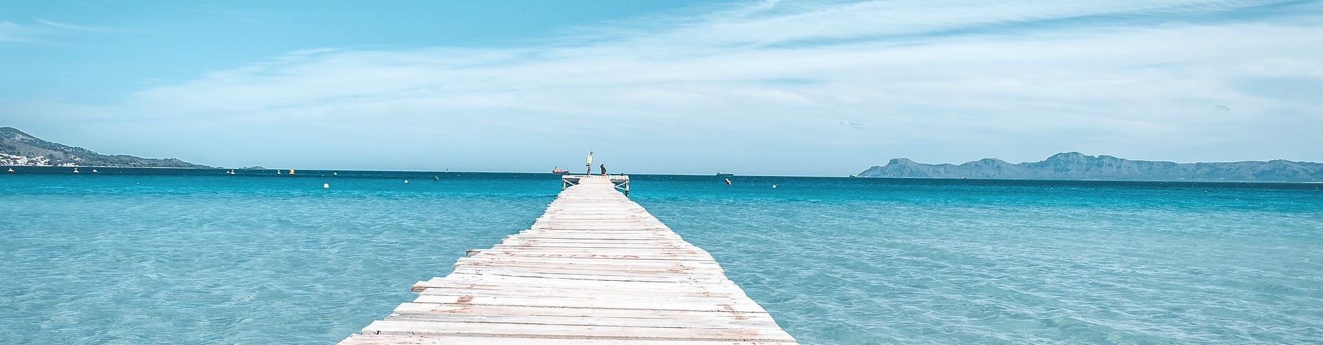 Majorka plaża pomost
